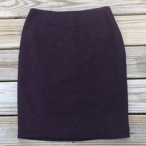 Worthington Burgundy and Black pencil skirt